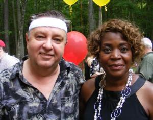 Wayne Bennett and Dee Armstrong