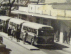 Columbus Buses at Transfer Station, 12th and Broadway, 1944