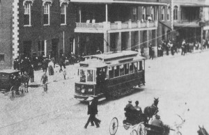 Columbus, GA Trolley on 10th Street in 1900