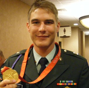 Spc. Glenn Eller, Oympic Gold Medal Winner for Double Traps Shooting