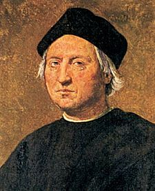 Chritopher Columbus. Painting by Ridolfo Ghirlandaio (1483-1561)