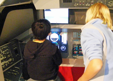 Space Shuttle landing game, Coca-Cola Space Science Center