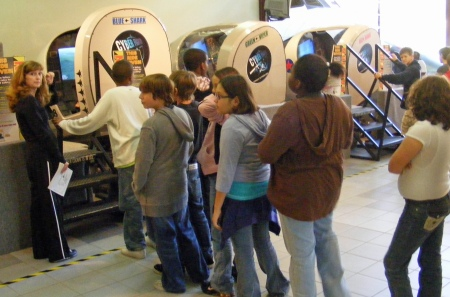 Jet FLight Simulator Line, Coca-Cola Space Science Center, Columbus, GA