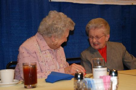 Mary Reed and Dr. Frances Ducan. Mary Reed is Rotary Club of Columbus secretary and widow of former secretary Dan Reed, for whom the award is named