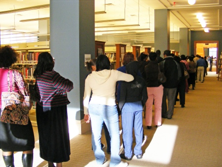Early voting at Columbus Public Library