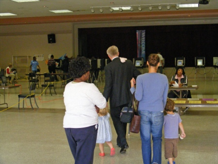 Voting at Wynnton United Methodist Church, Columbus, GA around noon.