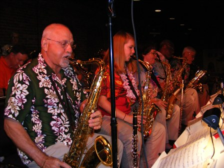 George Corradino and the Cavaliers playing a luau dance at the Mr. and Mrs. Club, Columbus, GA