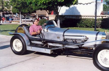 Jay Leno in his Hispano-Suiza 8 (Photo by Alan Light)