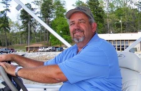 John McCroskey, President, Singleton Marine Group,  Blue Creek Marina, Fafeville, Alabama,  taking me for a ride on Lake Oliver
