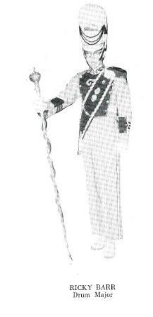 Eric Barr, Jordan Red Jacket Band 1963 Drum Major, from JVHS yearbook (courtesy Barbara Motos)