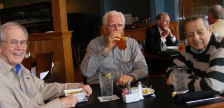 Dick McMichael, Al Flemming, and Don Nahley having lunch at the Fife and Drum, National Infantry Museum, Columbus, Georgia