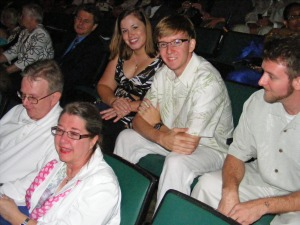 Gordon, Janet, Catherine, Schafer, and Taylor Gray, Nova Southeastern University Graduation, Fort Lauderdale, Florida