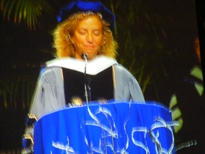Rep. Debbie Wasserman Schultz, FL (D),  Nova medical college keynote speaker, Ft. Lauderdale, FL.
