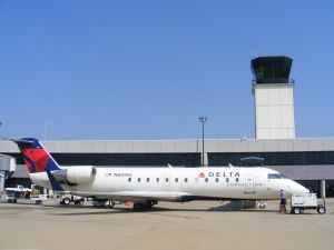 Atlantic Southeast - Delta Connection jet at Columbus Metropolitan Airport, Columbus, GA