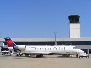 Atlantic Southeast - Delta Connection jet at Columbus Metropolitan Airport, Columbus, GA