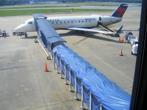 ASA-Delta Connection jet at Columbus Metropolitan Airport, Columbus, GA