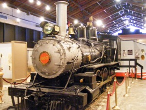 Historic Locomotive, Savannah History Museum,  old Central of Georgia depot, Savannah, Georgia