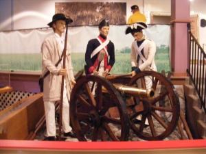 Revolutionary War battle exhibit, Savannah History Museum, Savannah, GA