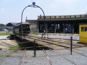 Turntable at the Roundhouse Railroad Museum, Savannah, GA