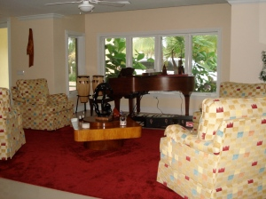 Music room in Ft. Lauderdale vacation house owned by Mr. and Mrs. Mitch Tunkel