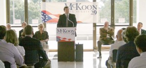 Josh McKoon announces for Ga. Sen. Dist. 29, Government Center, Columbus, GA