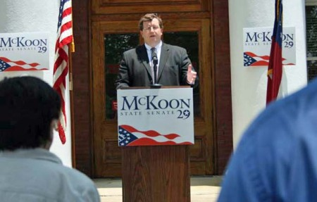 Josh McKoon announcing for GA Sen. Dist. 29, Hamilton, GA (Courtesy; Josh McKoon)