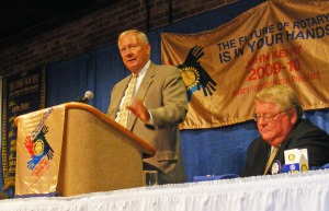 Jim Wetherington, Mayor, Columbus, GA, J. Robert Jones, Presdient, Rotary Club of Columbus