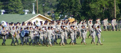 Basic training graduation ceremony parade, National Infantry Museum, Ft. Benning/Columbus