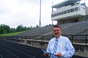 Dr. Gary Gibson, Director of Athletics, MCSD, at Kinnett Stadium, Columbus, GA