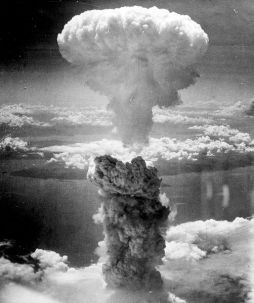Atom bomb blast at Nagasaki, Japan,  August 9th, 1945 (Photograph by the U.S. Army Air Force)