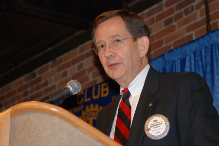 Ron Mullins, Rotary Club of Columbus, GA (Courtesy: Jim Cawthorne, Camera1)
