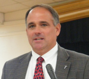 Steve Dennis, Troy University Athletic Director,  speaking to Phenix City Rotarians, Phenix City, AL