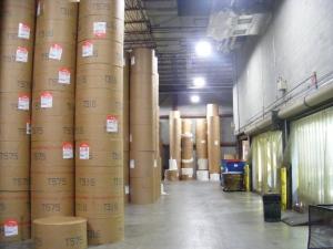 Ledger-Enquirer newsprint storage room