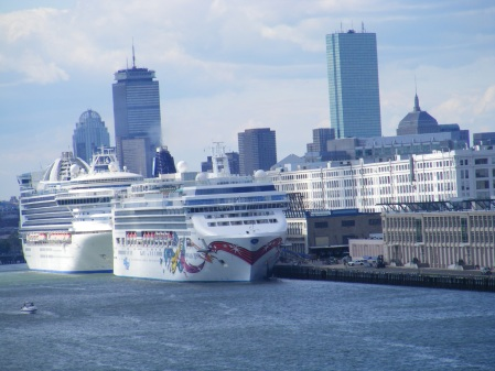When we entered Boston Harbor two other cruise ships were already there.