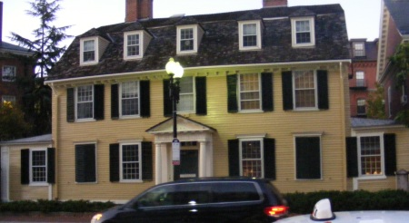 The house at Harvard University that served as George Washington's Headquarters in the Revolutionary War