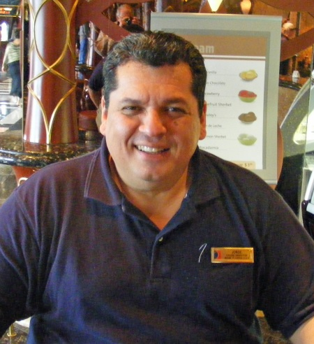 Jorge Solano, Cruise Director for the Carnival Lines' Triumph