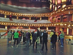 CALL group touring the RiverCenter