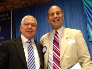 Opher Aviran, Counsul General of Israel to the Southeast United States, with Dr. Tim Mescon, President of Columbus State University, who introduced him  to the Rotarfy  Club of  Columbus.