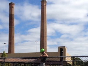 How about a zip line from atop the Eagle and Phenix smokestacks?  WIckham thinks it's a good idea.