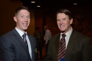 Rotary Club of Columbus President Ryan Clements and John Flournoy, recipient of the Dan Reed Service Above Self Award.